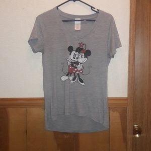DISNEY mickey & minnie tee shirt grey jerry leigh